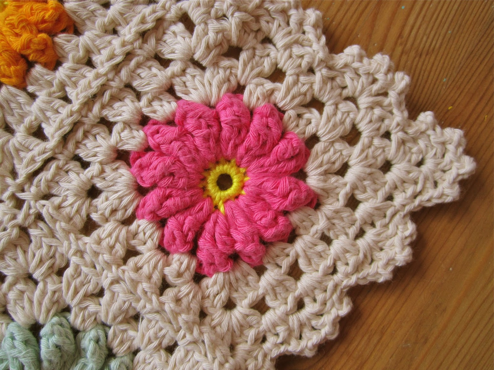 Flower Granny Square Fresh Color N Cream Crochet and Dream Flower Square Tutorial Iii Of Wonderful 45 Pictures Flower Granny Square