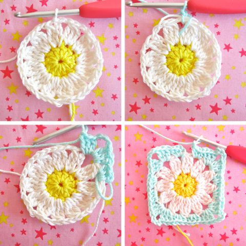 Flower Granny Square New 25 Best Crochet Flower Squares Ideas On Pinterest Of Wonderful 45 Pictures Flower Granny Square