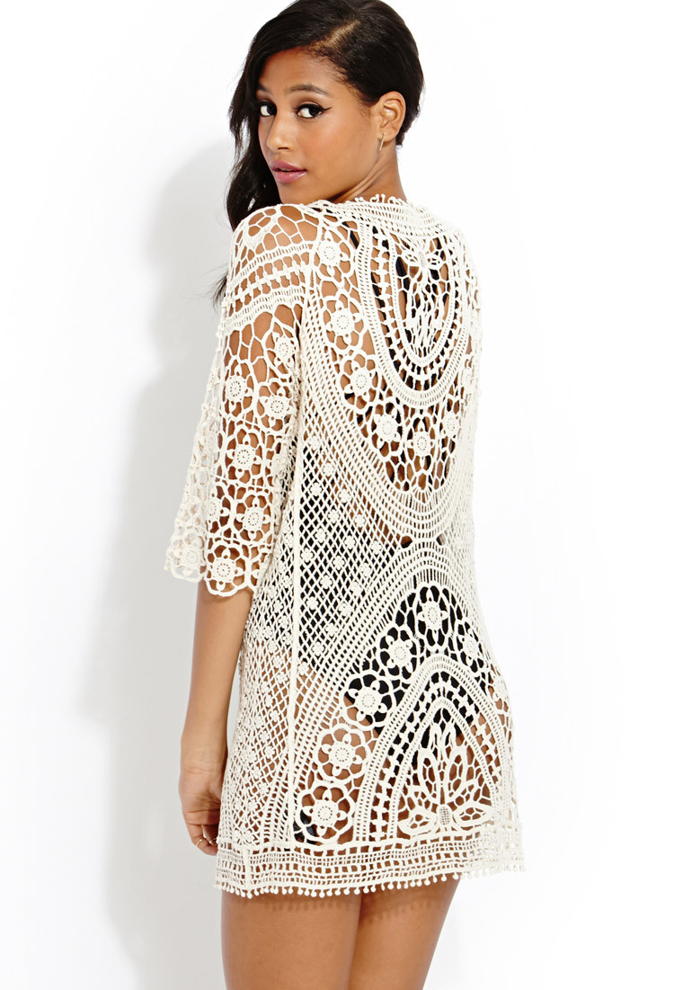 Forever 21 Crochet Dress Elegant forever 21 Femme Crochet Dress In Natural Of Brilliant 40 Models forever 21 Crochet Dress