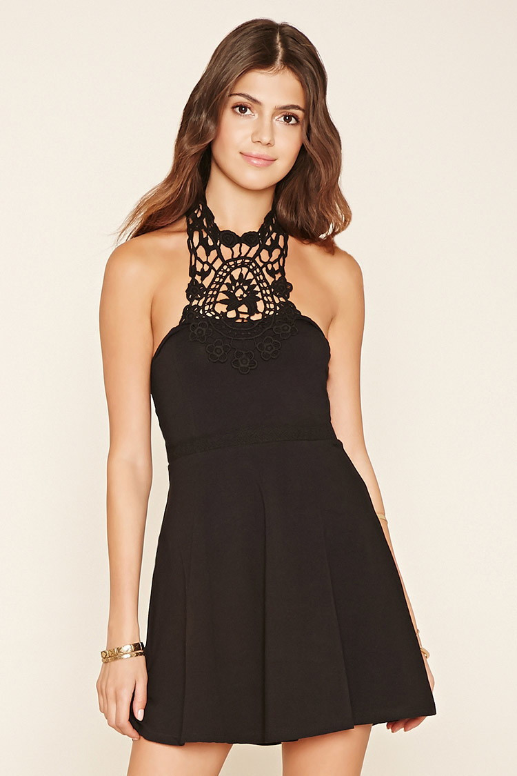 Forever 21 Crochet Dress Fresh forever 21 Crochet Halter A Line Dress In Black Of Brilliant 40 Models forever 21 Crochet Dress