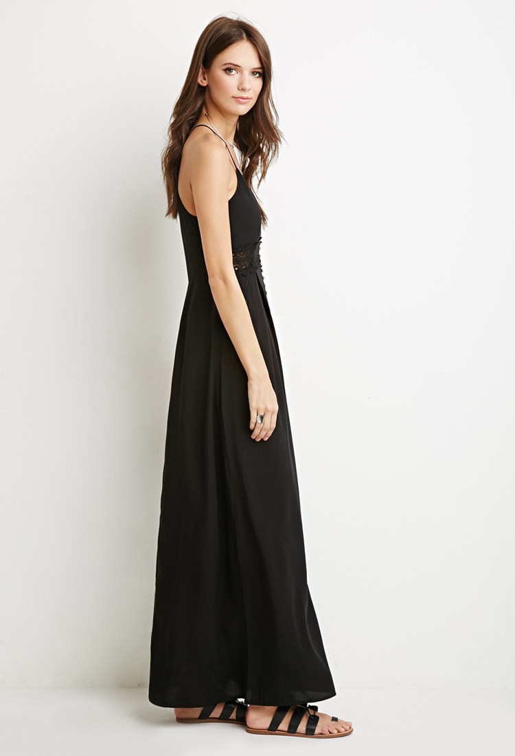 Forever 21 Crochet Dress Fresh forever 21 Crochet Trim Maxi Dress In Black Of Brilliant 40 Models forever 21 Crochet Dress