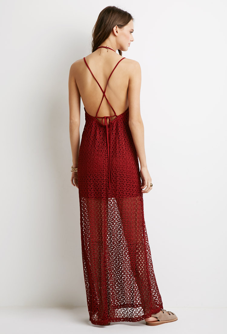 Forever 21 Crochet Dress Inspirational forever 21 Crochet Halter Maxi Dress In Brown Of Brilliant 40 Models forever 21 Crochet Dress