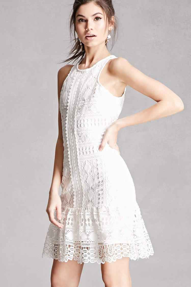 Forever 21 Crochet Dress Inspirational forever 21 soieblu Crochet Lace Dress In White Of Brilliant 40 Models forever 21 Crochet Dress