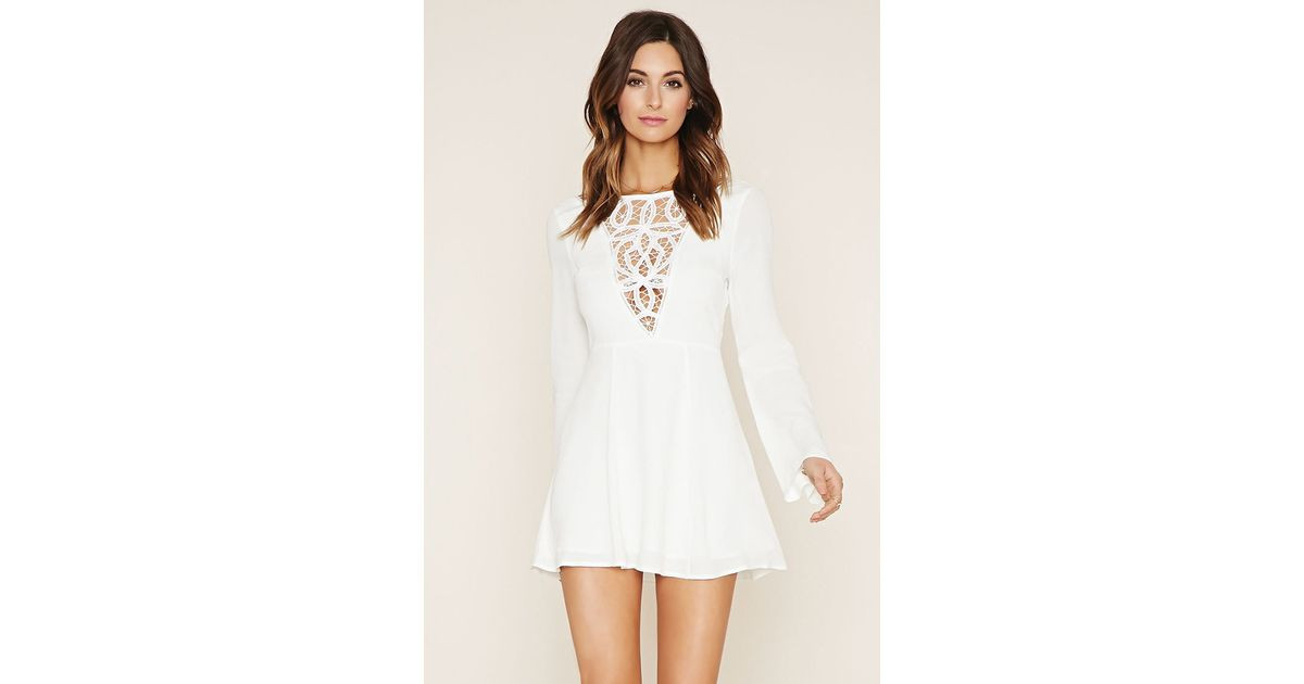 Forever 21 Crochet Dress Lovely forever 21 Crochet Paneled Mini Dress In White Of Brilliant 40 Models forever 21 Crochet Dress