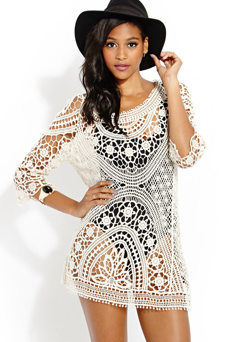 Forever 21 Crochet Dress New forever 21 Femme Crochet Dress In Beige Cream Of Brilliant 40 Models forever 21 Crochet Dress