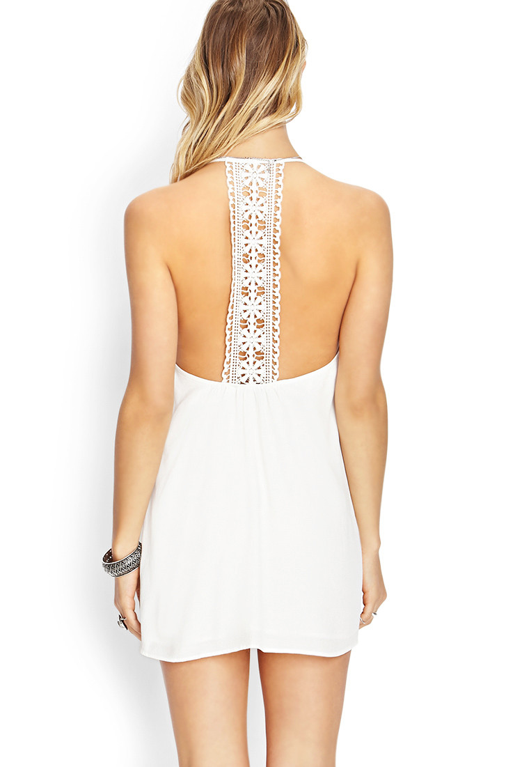 Forever 21 Sunny Daze Crochet Dress in Natural