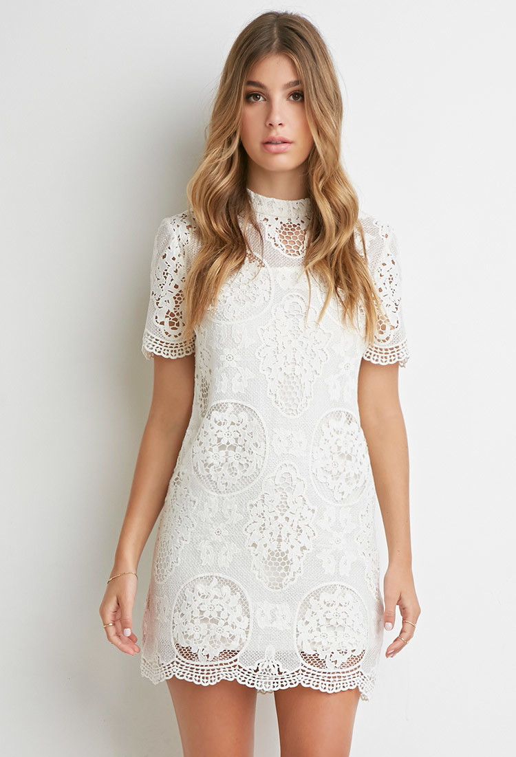Forever 21 Crochet Dress New Lyst forever 21 ornate Crochet Lace Dress You Ve Been Of Brilliant 40 Models forever 21 Crochet Dress