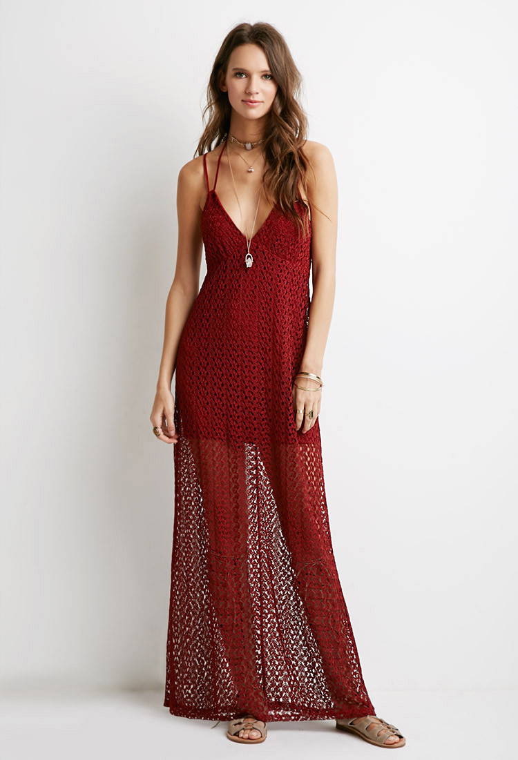 Forever 21 Crochet Dress Unique forever 21 Crochet Halter Maxi Dress In Brown Of Brilliant 40 Models forever 21 Crochet Dress