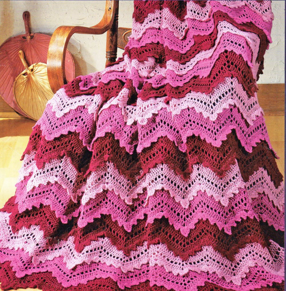 Free Crochet Pattern Ripple Afghan Dancox for