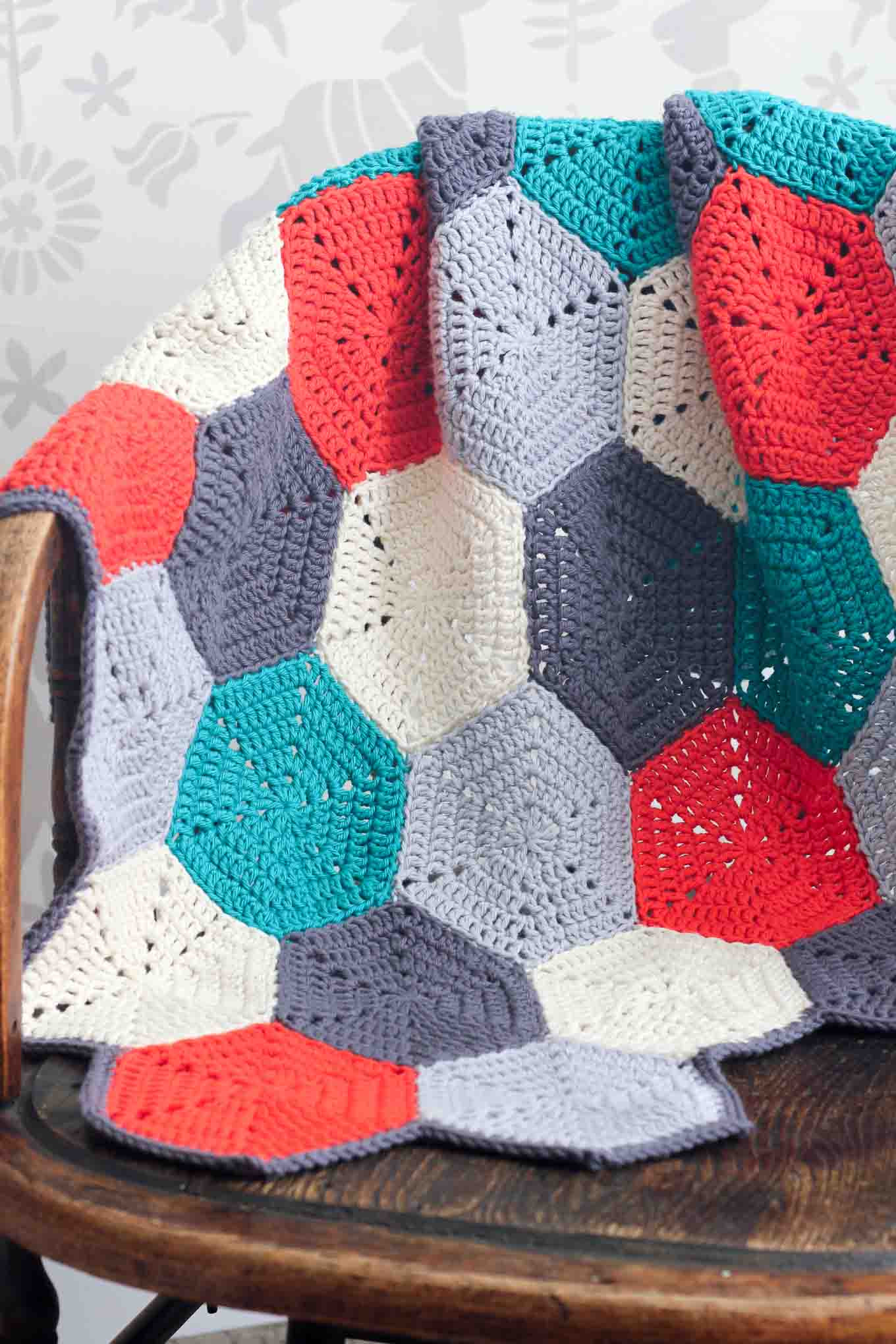 "Free Afghan Patterns Beautiful ""happy Hexagons"" Free Crochet Afghan Pattern Make & Do Crew Of Perfect 41 Ideas Free Afghan Patterns"