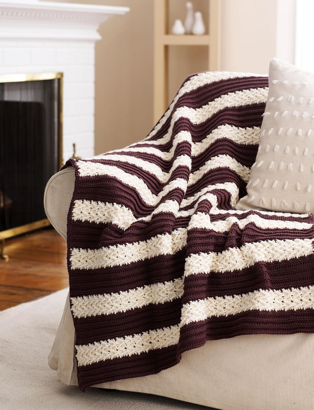 Free Afghan Patterns Elegant Herringbone Stripe Afghan Of Perfect 41 Ideas Free Afghan Patterns