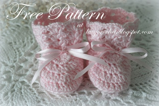Free Baby Bootie Patterns Awesome Lacy Crochet Crochet Baby Booties Size 0 6 Months Free Of Top 50 Ideas Free Baby Bootie Patterns