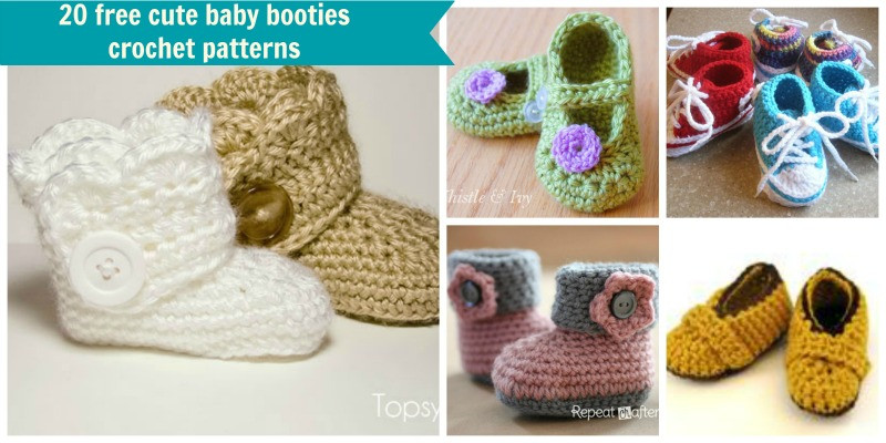 Free Baby Bootie Patterns Inspirational 20 Free Crochet Baby Booties Patterns Of Top 50 Ideas Free Baby Bootie Patterns