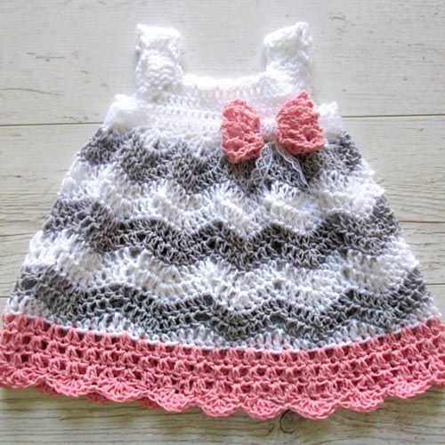 Free Baby Girl Crochet Patterns Elegant Chevron Baby Dress Crochet Pattern Of Fresh 40 Pics Free Baby Girl Crochet Patterns