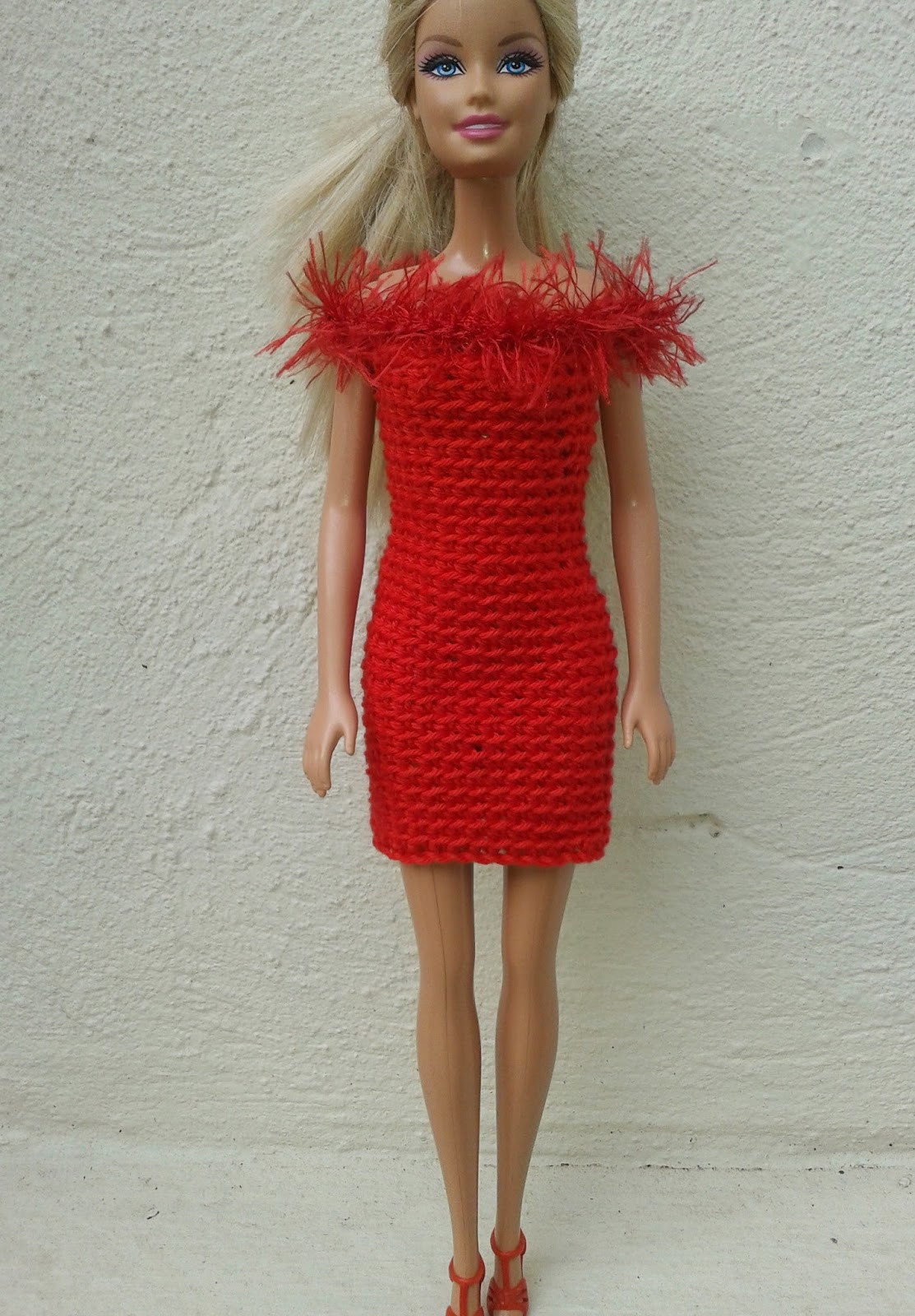Free Barbie Crochet Patterns Beautiful Linmary Knits Barbie In Red Crochet Dresses Of Awesome 43 Pics Free Barbie Crochet Patterns
