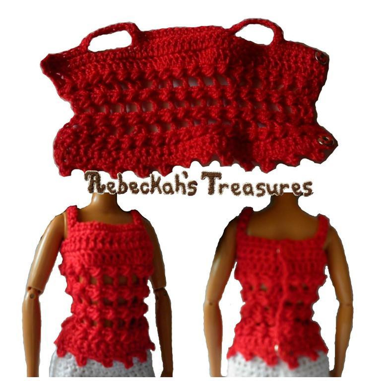 Free Barbie Crochet Patterns Fresh Crochet Barbie top by Rebeckahstreasures Craftsy Of Awesome 43 Pics Free Barbie Crochet Patterns