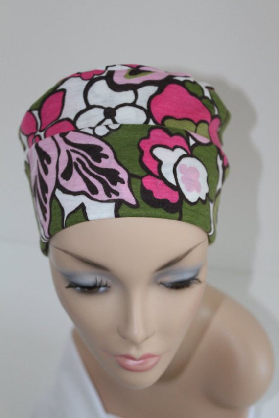 Free Chemo Hat Patterns Lovely Chemo Hats Cancer Cap Cotton Jersery Knit In Pink and Green Of Contemporary 43 Images Free Chemo Hat Patterns