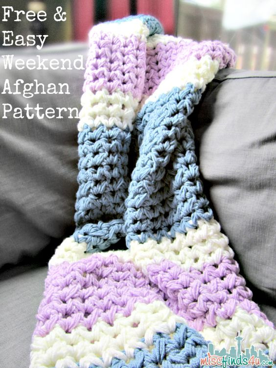 Free Crochet Afghan Patterns for Beginners Fresh Easy Weekend Crochet Afghan Free Pattern Of Top 44 Ideas Free Crochet Afghan Patterns for Beginners
