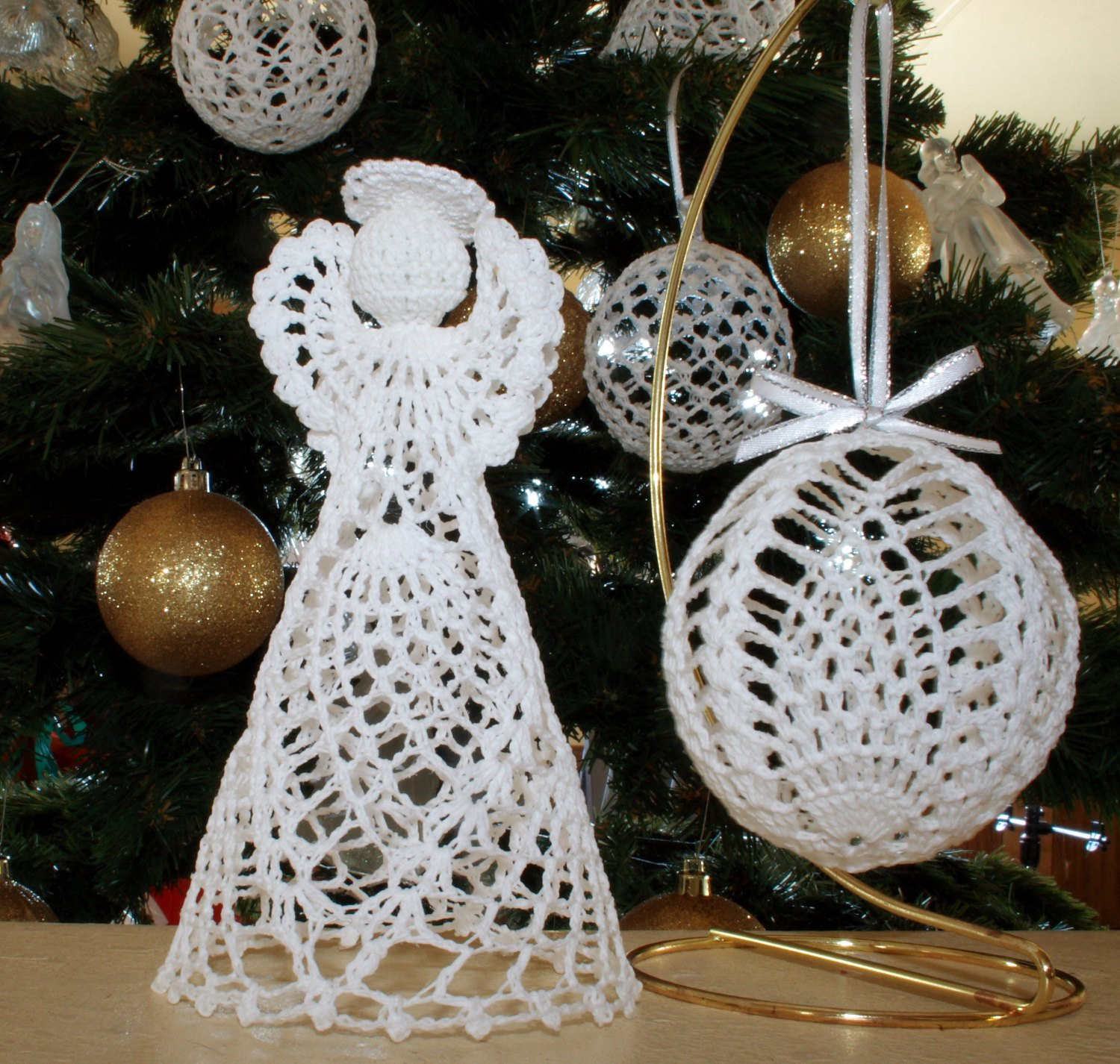 Free Crochet Angel Patterns Beautiful Christmas Pineapple Angel and Ball ornament Crochet Of Innovative 44 Pictures Free Crochet Angel Patterns