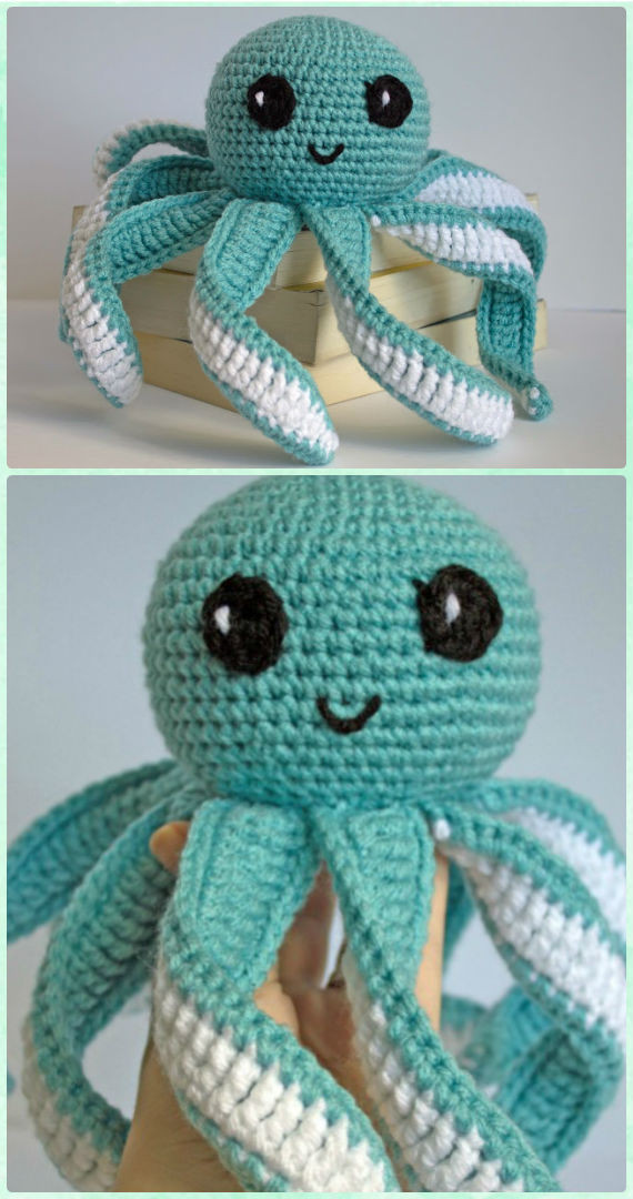 Amigurumi Crochet Sea Creature Animal Toy Free Patterns