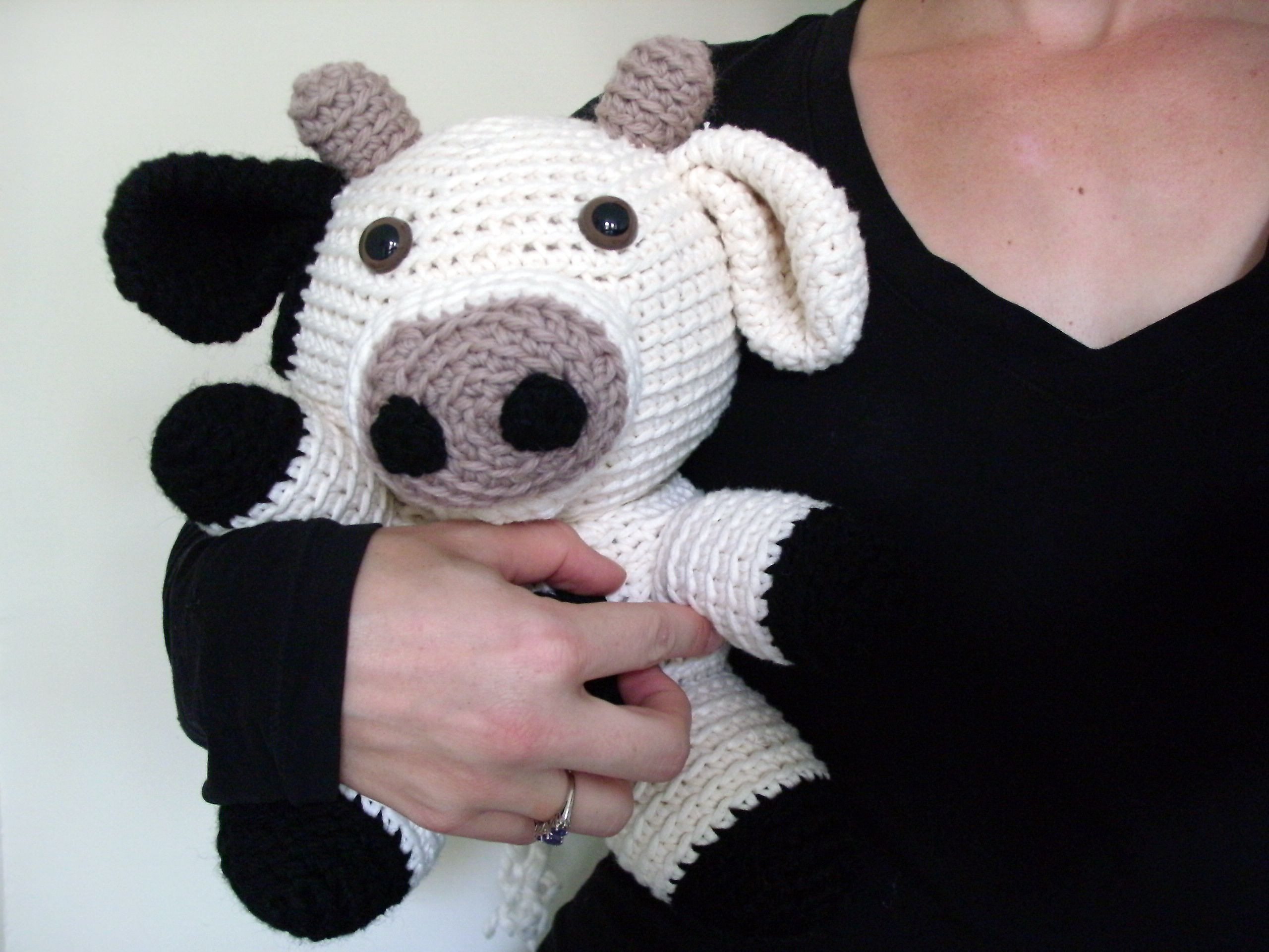 Free Crochet Animal Patterns Elegant Amigurumi Jackie the Cow Pattern by Stacey Trock Of Attractive 49 Pictures Free Crochet Animal Patterns