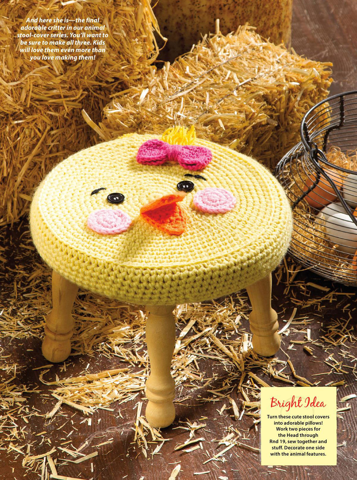 Free Crochet Animal Patterns Fresh Farm Animal Stools Crochet Cover ⋆ Crochet Kingdom Of Attractive 49 Pictures Free Crochet Animal Patterns