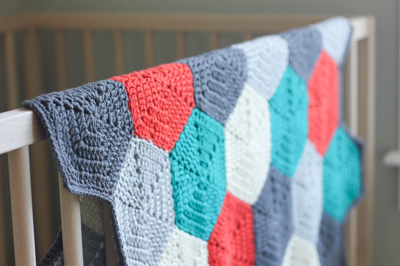 "Free Crochet Baby Afghan Patterns Fresh ""happy Hexagons"" Free Crochet Afghan Pattern Make & Do Crew Of Superb 46 Photos Free Crochet Baby Afghan Patterns"