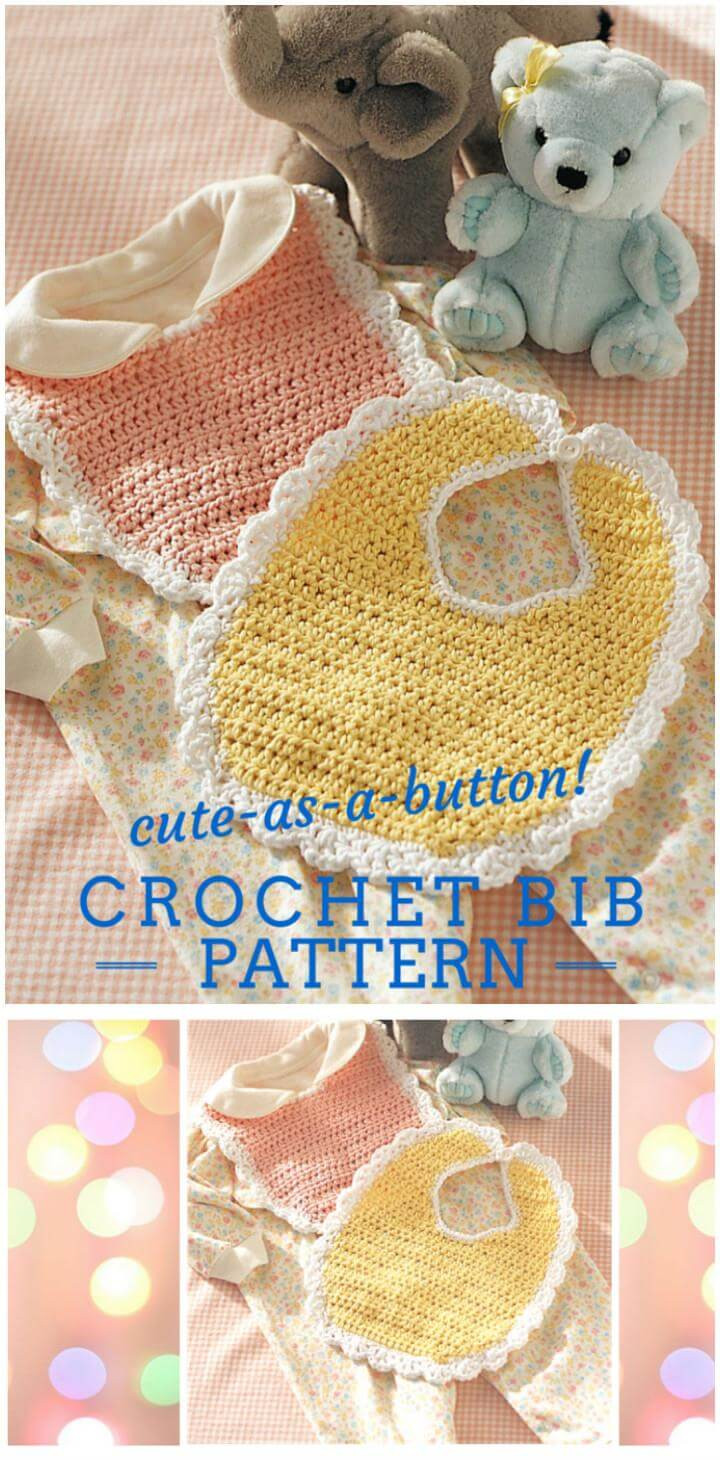 Free Crochet Baby Bib Patterns Awesome 101 Free Crochet Patterns Full Instructions for Of Adorable 48 Models Free Crochet Baby Bib Patterns