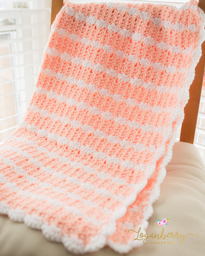 Free Crochet Baby Blankets Fresh Peaches & Cream Baby Blanket – Free Crochet Pattern Of Incredible 43 Ideas Free Crochet Baby Blankets