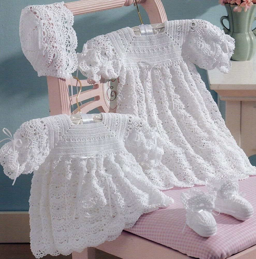 Free Crochet Baby Dress Patterns New 2 Baby Christening Sets Dress Dresses Gown Bonnet Booties Of Fresh 40 Pictures Free Crochet Baby Dress Patterns