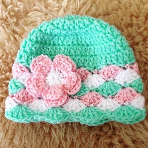 Free Crochet Baby Hat Patterns Awesome Baby Girl Crochet Hats with Flowers Free Patterns Of Adorable 48 Pics Free Crochet Baby Hat Patterns