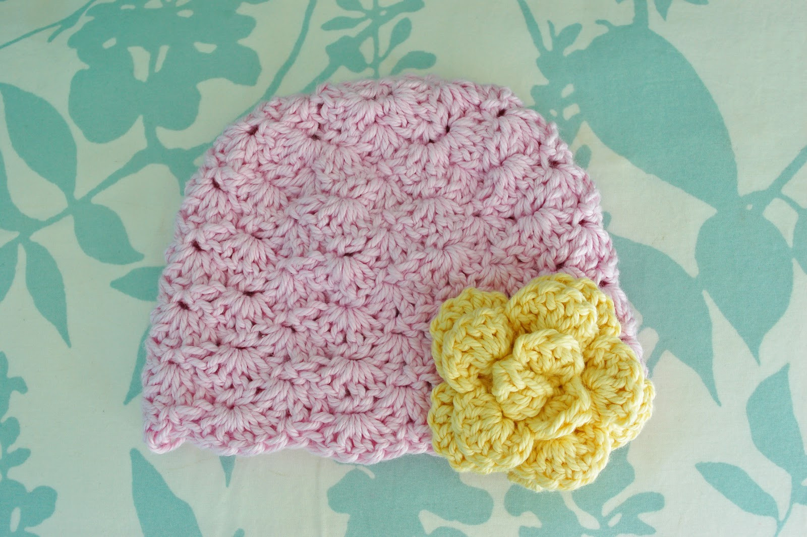 Alli Crafts Free Pattern Lacy Shells Hat Newborn