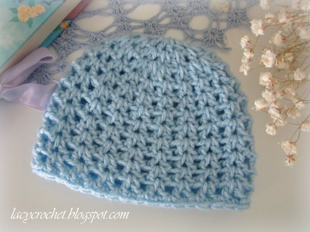 Free Crochet Baby Hat Patterns Fresh Lacy Crochet V Stitch Newborn Beanie Free Crochet Pattern Of Adorable 48 Pics Free Crochet Baby Hat Patterns
