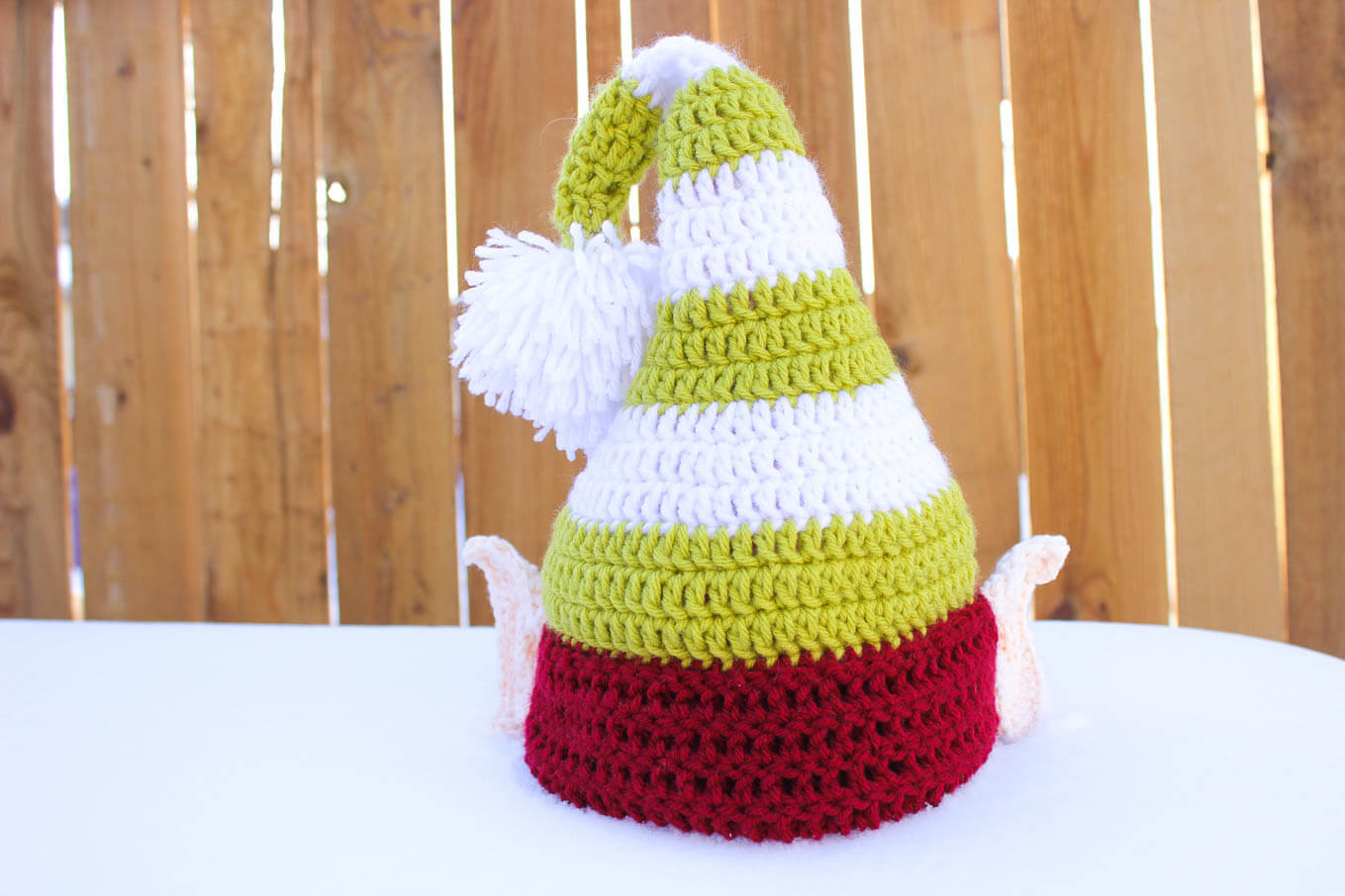 Free Crochet Baby Hat Patterns Inspirational Santa S Helper Free Crochet Elf Hat Pattern with Ears Of Adorable 48 Pics Free Crochet Baby Hat Patterns