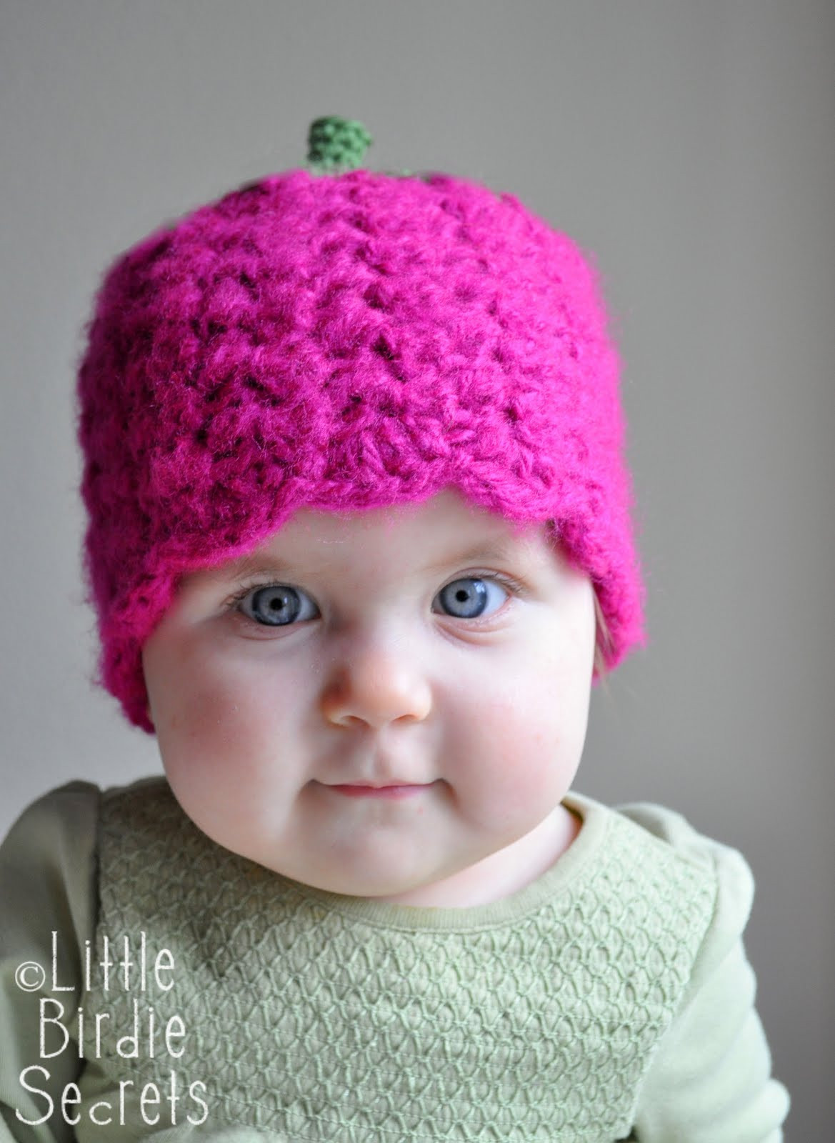 raspberry or strawberry free crochet pattern and a