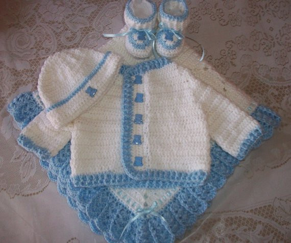 Free Crochet Baby Layette Patterns Beautiful Crochet Baby Boy Sweater Set Layette Perfect for Baby Shower Of Great 50 Pictures Free Crochet Baby Layette Patterns