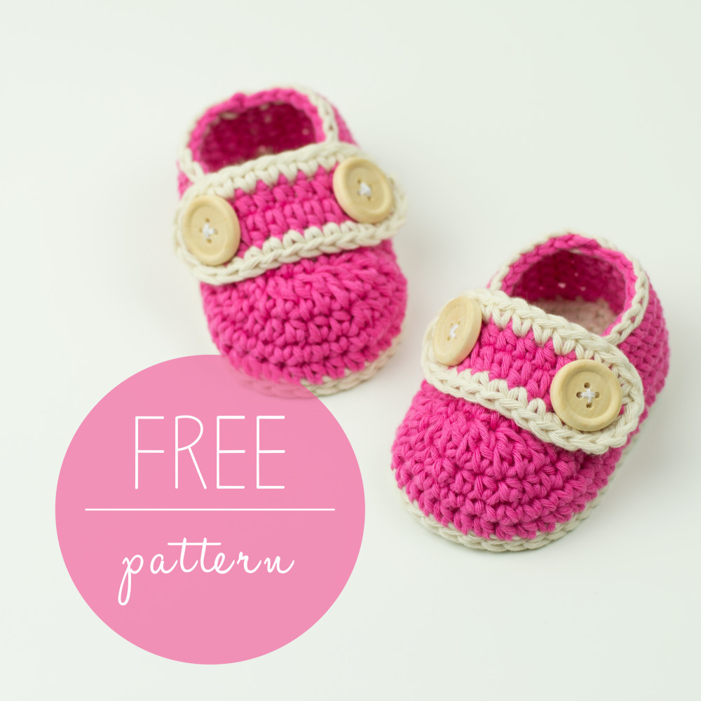 Crochet Baby Booties Pretty In Pink – FREE Pattern – Croby