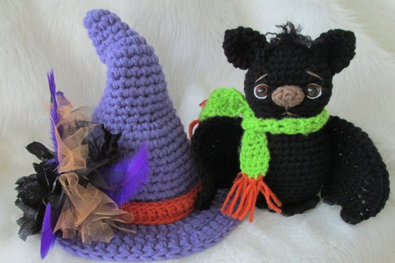 Free Crochet Bat Pattern Lovely Crochet Pattern Bat and Witch Hat Set by Teri Crews Instant Of Gorgeous 42 Pics Free Crochet Bat Pattern