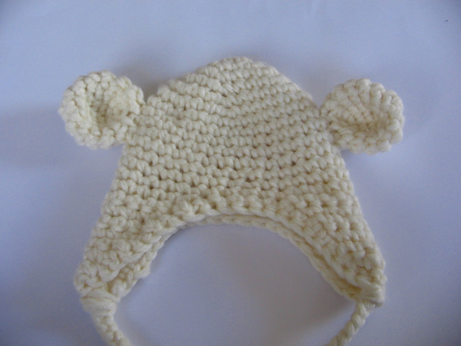 how to crohet bear hat free pattern