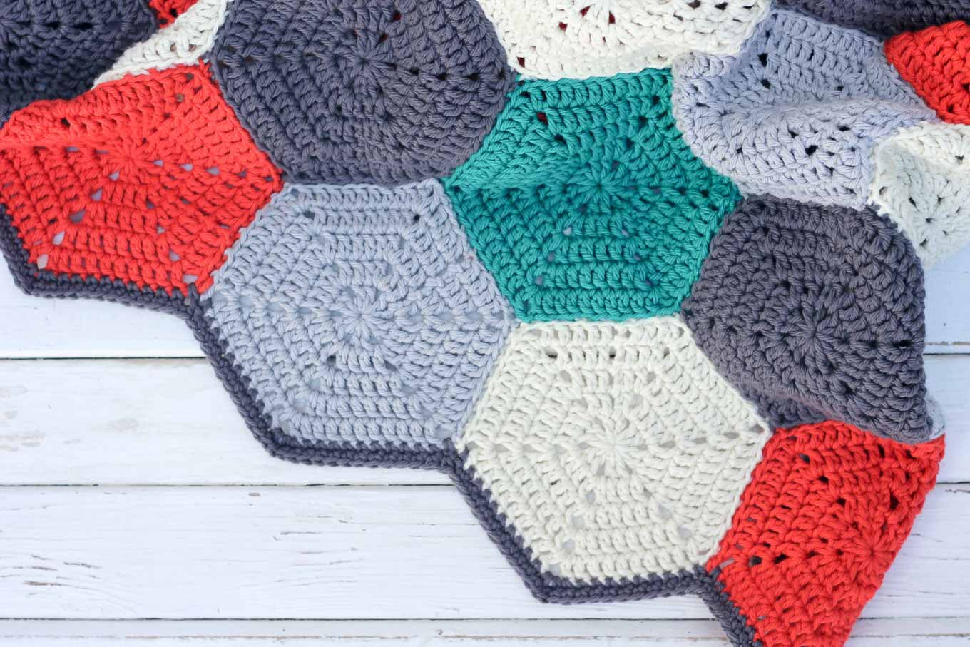 "Free Crochet Blanket Patterns Unique ""happy Hexagons"" Free Crochet Afghan Pattern Make & Do Crew Of Superb 44 Models Free Crochet Blanket Patterns"