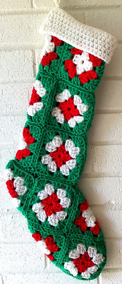 Free Crochet Christmas Stocking Patterns Awesome [free Pattern] Easy to Crochet Granny Square Stocking Of Top 44 Photos Free Crochet Christmas Stocking Patterns