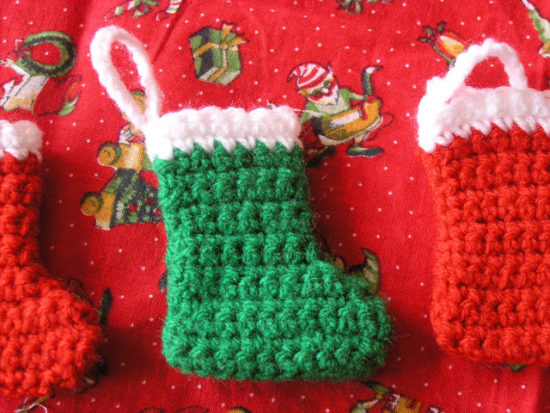 crochet christmas socks