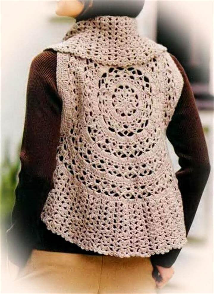 Free Crochet Circle Vest or Shrug Pattern Elegant 20 Stylish Crochet Sweater Vest Design Of Gorgeous 42 Pictures Free Crochet Circle Vest or Shrug Pattern