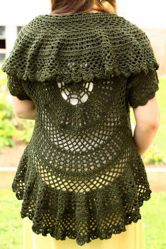 """Free Crochet Circle Vest or Shrug Pattern Elegant Crochet Lace Sweaters that Will Make People Say """"oooo"""" Of Gorgeous 42 Pictures Free Crochet Circle Vest or Shrug Pattern"""