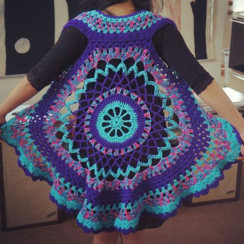 Free Crochet Circle Vest or Shrug Pattern Elegant Crochet Mandala Vest Pattern Free Google Search Of Gorgeous 42 Pictures Free Crochet Circle Vest or Shrug Pattern