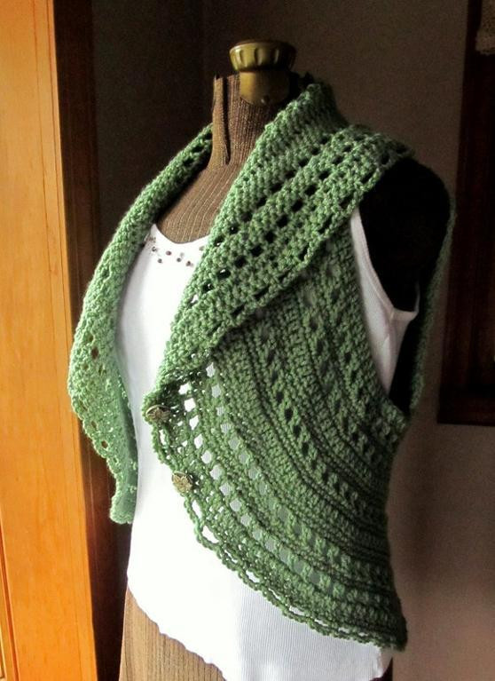 Free Crochet Circle Vest or Shrug Pattern Inspirational Free Crocheted Vest Pattern – Easy Crochet Patterns Of Gorgeous 42 Pictures Free Crochet Circle Vest or Shrug Pattern