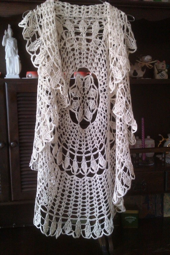 Free Crochet Circle Vest or Shrug Pattern New Items Similar to Linen Round Circle Shrug Crochet Vest Of Gorgeous 42 Pictures Free Crochet Circle Vest or Shrug Pattern