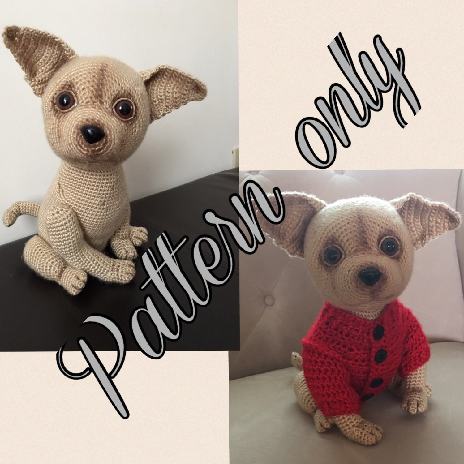 Chihuahua dog crochet pattern PDF free crochet sweater