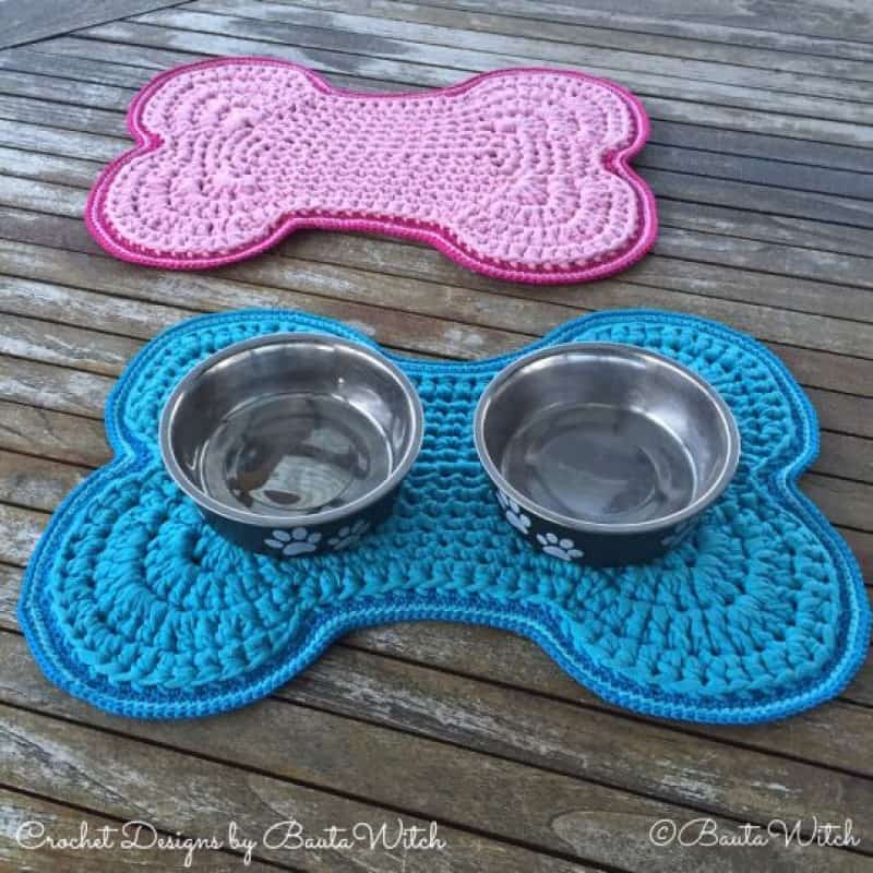 Free Crochet Dog Patterns New Crochet Dog Bowl Mat Pattern Free Tutorial Bone Shaped Design Of Superb 45 Pictures Free Crochet Dog Patterns