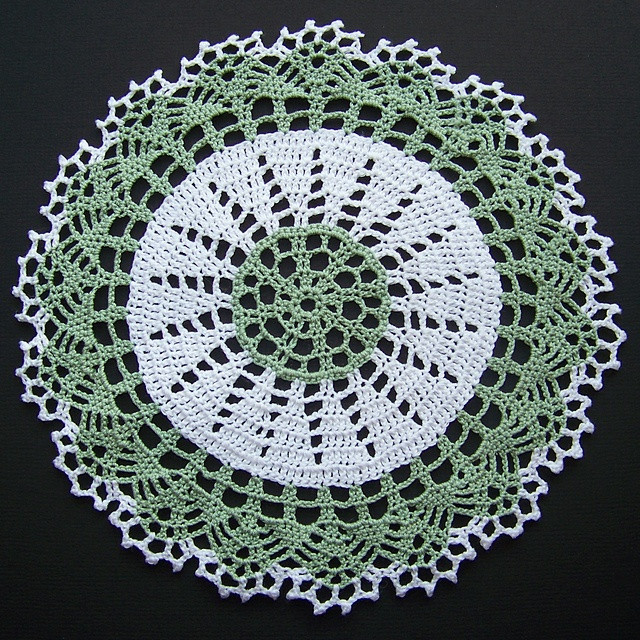 Free Crochet Doily Patterns for Beginners New Ravelry Two tone Doily Pattern by American Thread Pany Of Wonderful 50 Models Free Crochet Doily Patterns for Beginners